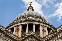 The Dome of St. Paul's Cathedral, London, England Stock Image