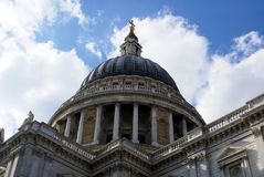 Dome of St Paul's Cathedral, London, England Stock Photo