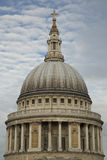 Dome of St Pauls Cathedral. Against a cloudy English sky in the City of London Stock Images