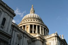 Dome of St Pauls, City of London, England, UK Stock Photography