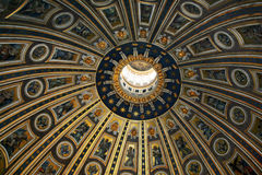 The dome of St. Peter in the basilica royalty free stock image