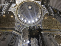 Dome of St. Peter's Basilica Stock Photo