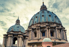 Dome of St. Peter's Basilica in Rome Royalty Free Stock Photo