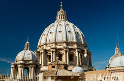 Dome of St. Peter`s Basilica, Vatican. Dome of St. Peter`s Basilica, Rome, Italy Royalty Free Stock Photos