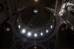 Dome of St. Peter`s Basilica. Vatican, Dome of St. Peter s Basilica from inside Royalty Free Stock Image