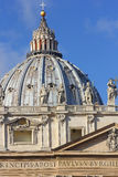 Dome of the St. Peter`s Basilica, Vatican, Rome Royalty Free Stock Photo