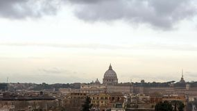 The dome of St. Peter's Basilica. Zoom. Rome, Ita. Ly.. Video stock video footage