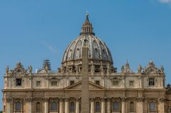 The dome of St. Peter`s Church in the Vatican.  stock photo