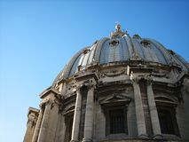 Dome of the St. Peter, Vatican city. In italy Royalty Free Stock Images