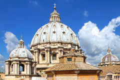 The dome of St. Peter in Vatican, Rome, Italy Royalty Free Stock Photos