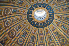 The dome of St. Peters Basilica in Rome Stock Photography