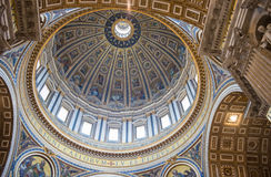 Dome of the St. Peters Basilica in Rome Royalty Free Stock Image