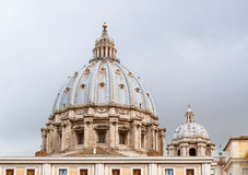 Dome of St. Peters basilica, Vatican, Rome Stock Photography