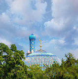 The dome of St. Petersburg`s cathedral mosque Russia Royalty Free Stock Image