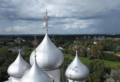 Dome of St. Sophia Cathedral in Vologda. Top view of the dome of St. Sophia Cathedral in Vologda Stock Photo