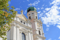 Dome St. Stephan in Passau. The dome of St. Stephan in the city of Passau in Bavaria Royalty Free Stock Image