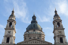 The dome of St. Stephen's Basilica, Budapest Royalty Free Stock Photo