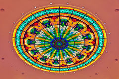 Dome with stained glass design Stock Photo