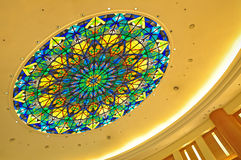 Dome with stained glass design stock photography