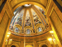 Dome Stained Glass San Francisco el Grande Madrid Spain royalty free stock image