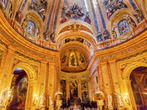 Dome Stained Glass San Francisco el Grande Madrid Spain Royalty Free Stock Photos
