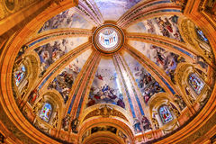 Dome Stained Glass San Francisco el Grande Madrid Spain Royalty Free Stock Images