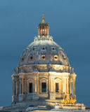 Dome of the State Capitol of Minnesota at Twilight Stock Photography