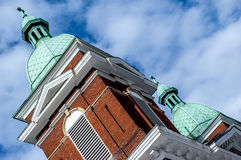 Dome Steeples on a church Stock Image