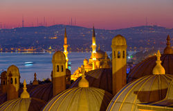 Dome of the Suleymaniye Mosque Royalty Free Stock Photos