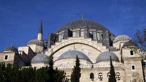 Dome of Suleymaniye Mosque, Istanbul. Stock Photo