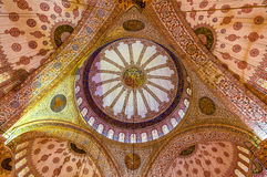 Dome of Sultan Ahmet Mosque (Blue Mosque) in Istanbul Stock Photo