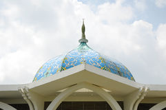 Dome of Sultan Ismail Airport Mosque - Senai Airport. JOHOR, MALAYSIA - FEBRUARY, 2014: Masjid Sultan Ismail Airport is built close to Senai Airport, Kulai stock images