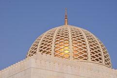 Dome of the Sultan Qaboos Grand Mosque Royalty Free Stock Photos