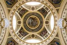 The dome of Szechenyi Baths, Budapest royalty free stock photography
