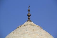 Dome of Taj Mahal. In the morning lights Stock Image