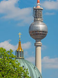 Dome and television tower Berlin Royalty Free Stock Images