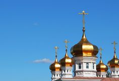 Dome of the temple with crosses Royalty Free Stock Image