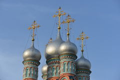 The dome of the temple Gregory Neokesariyskogo in the Clearing.Moscow. The Church of St. Gregory neokesariysky in Dermizax — an Orthodox Church of Moskvoretsky Stock Image