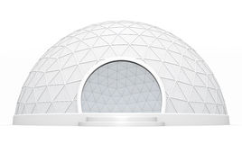 Dome tent. Empty exhibition / trade event tent against a white background. 3D rendered image Stock Photography