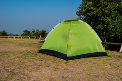 Dome tent camping. Dome tent camping on the mountain Royalty Free Stock Photo