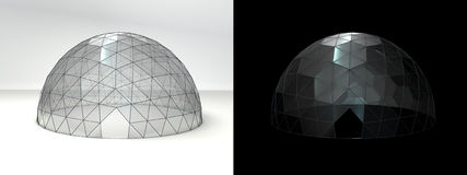 Dome tent day and night Royalty Free Stock Image