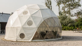 Dome tent. A modern dome tent at a camping site Royalty Free Stock Photo