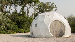 Dome tent. A modern dome tent at a camping site royalty free stock photography