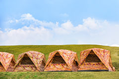 Dome tents Stock Photography