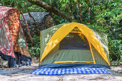 Dome tents Stock Image