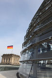 Dome on top of the Reichstag Royalty Free Stock Images