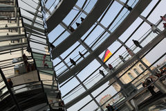 Dome on top of the Reichstag Stock Image