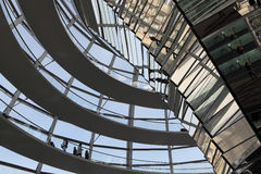 Dome on top of the Reichstag Royalty Free Stock Image