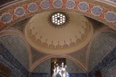 Dome in Topkapi Palace, Istanbul, Turkey. Royalty Free Stock Images