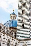 Dome and tower of Siena cathedral Royalty Free Stock Photography